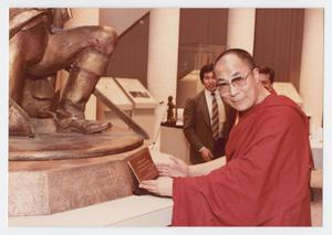 Primary view of object titled '[The Dalai Lama after Thanks-Giving Foundation Banquet]'.