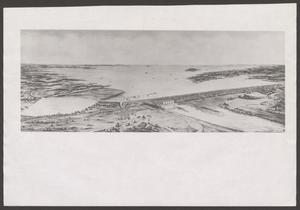 Primary view of object titled '[Artist's Depiction of Completed Denison Dam]'.