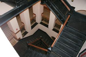 Primary view of object titled '[Looking Down on Steps]'.