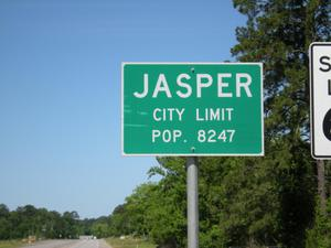 Primary view of object titled '[Sign at Jasper City Limits]'.