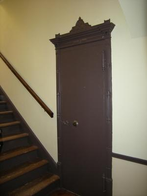 Primary view of object titled '[Brown Door to Safe]'.