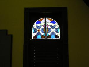 Primary view of object titled '[Stained Glass Window]'.