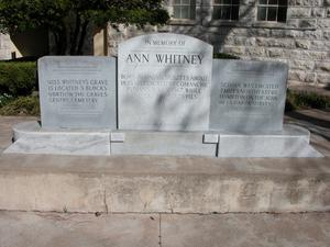 Ann Whitney Memorial