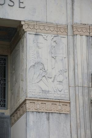 Primary view of object titled '[Frieze on Courthouse]'.