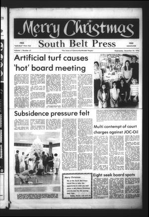 Primary view of object titled 'South Belt Press (Houston, Tex.), Vol. 1, No. 47, Ed. 1 Wednesday, December 22, 1976'.
