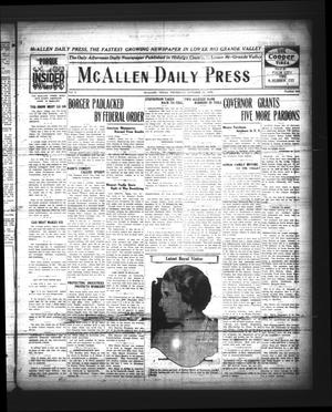 Primary view of object titled 'McAllen Daily Press (McAllen, Tex.), Vol. 5, No. 245, Ed. 1 Thursday, October 14, 1926'.