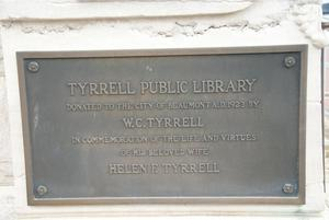 Primary view of object titled '[Public Library Plaque]'.
