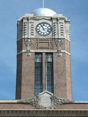 Johnson County Courthouse, tower detail