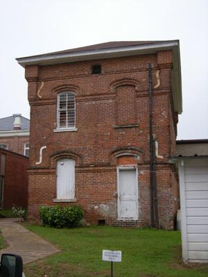 Primary view of object titled '[Two Story Brick Building]'.