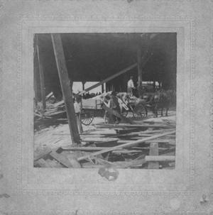 Primary view of object titled '[Aftermath of 1900 Galveston storm, locating storm victims]'.
