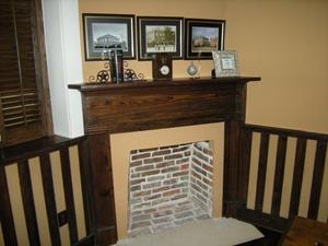 Primary view of object titled '[Fireplace in Office]'.