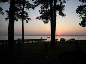 Primary view of object titled '[Sunset on Lake Limestone]'.