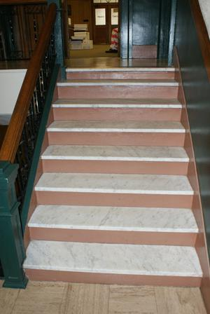 Primary view of object titled '[Marble Staircase]'.