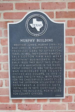 Primary view of object titled '[Murphy Building Plaque]'.