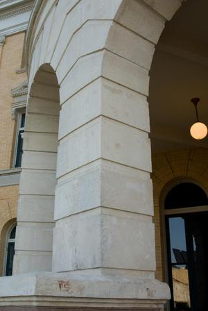 Primary view of object titled '[Arches at Courthouse]'.