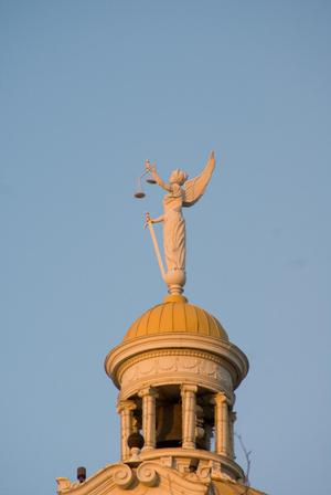 Primary view of object titled '[Statue on Dome]'.