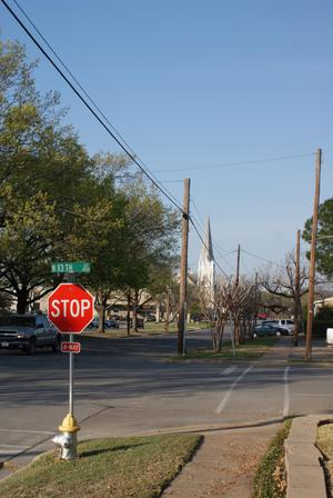 Primary view of object titled '[Street in Corsicana]'.