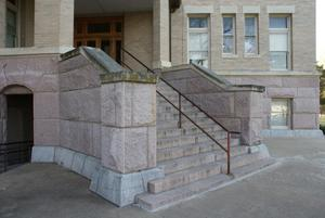 Primary view of object titled '[Stairs Outside Courthouse]'.