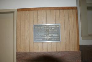 Primary view of object titled '[Navarro County Courthouse Plaque]'.