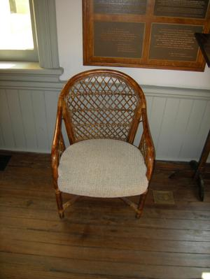 Primary view of object titled '[Wicker Chair]'.
