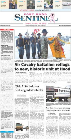 Fort Hood Sentinel (Fort Hood, Tex.), Vol. 73, No. 43, Ed. 1 Thursday, October 29, 2015
