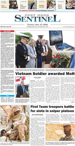 Fort Hood Sentinel (Fort Hood, Tex.), Vol. 72, No. 15, Ed. 1 Thursday, April 17, 2014