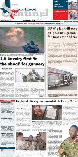 Fort Hood Sentinel (Fort Hood, Tex.), Vol. 75, No. 30, Ed. 1 Thursday, July 27, 2017