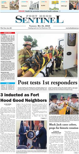 Primary view of Fort Hood Sentinel (Fort Hood, Tex.), Vol. 73, No. 20, Ed. 1 Thursday, May 21, 2015