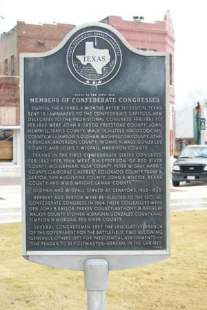 Primary view of object titled '[Plaque About Confederate Congress]'.