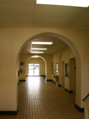 Primary view of object titled '[Arched Hallway]'.