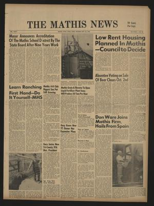 The Mathis News (Mathis, Tex.), Vol. 47, No. 53, Ed. 1 Thursday, September 26, 1968