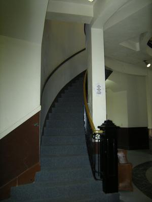 Primary view of object titled '[Looking Up at Staircase]'.