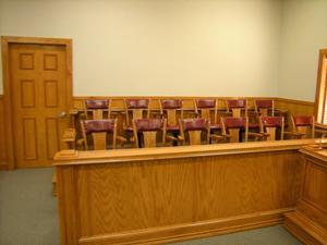 Primary view of object titled '[Twelve Jury Seats]'.