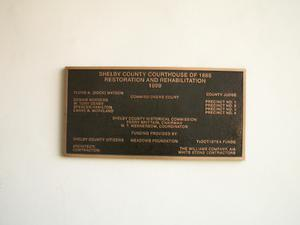 Primary view of object titled '[Plaque on a Wall]'.