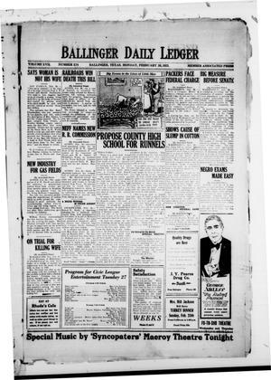 Ballinger Daily Ledger (Ballinger, Tex.), Vol. 17, No. 274, Ed. 1 Monday, February 26, 1923