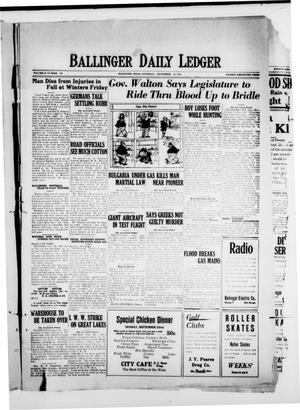 Ballinger Daily Ledger (Ballinger, Tex.), Vol. 18, No. 140, Ed. 1 Saturday, September 22, 1923