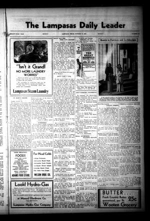 Primary view of object titled 'The Lampasas Daily Leader (Lampasas, Tex.), Vol. 33, No. 194, Ed. 1 Monday, October 19, 1936'.