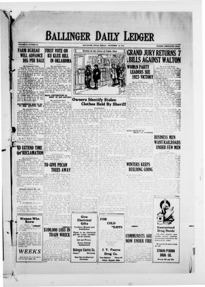 Ballinger Daily Ledger (Ballinger, Tex.), Vol. 18, No. 194, Ed. 1 Friday, November 23, 1923