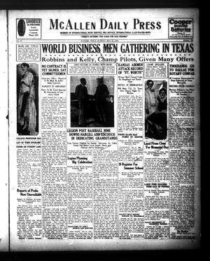 McAllen Daily Press (McAllen, Tex.), Vol. 9, No. 136, Ed. 1 Monday, May 27, 1929