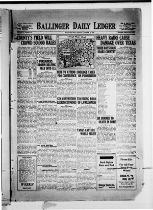 Ballinger Daily Ledger (Ballinger, Tex.), Vol. 18, No. 159, Ed. 1 Monday, October 15, 1923