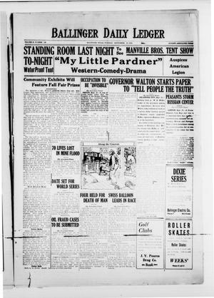 Ballinger Daily Ledger (Ballinger, Tex.), Vol. 18, No. 142, Ed. 1 Tuesday, September 25, 1923