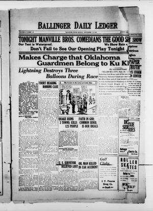 Ballinger Daily Ledger (Ballinger, Tex.), Vol. 18, No. 141, Ed. 4 Monday, September 24, 1923