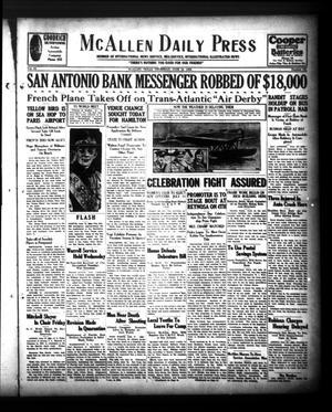 McAllen Daily Press (McAllen, Tex.), Vol. 9, No. 151, Ed. 1 Thursday, June 13, 1929