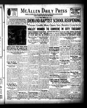 McAllen Daily Press (McAllen, Tex.), Vol. 9, No. 124, Ed. 1 Monday, May 13, 1929