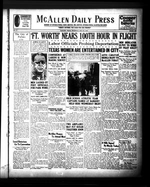 McAllen Daily Press (McAllen, Tex.), Vol. 9, No. 133, Ed. 1 Thursday, May 23, 1929