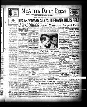 McAllen Daily Press (McAllen, Tex.), Vol. 9, No. 98, Ed. 1 Friday, April 12, 1929