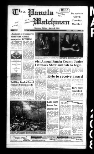 Primary view of The Panola Watchman (Carthage, Tex.), Vol. [136], No. 18, Ed. 1 Sunday, March 2, 2008