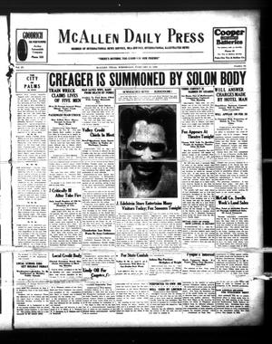 McAllen Daily Press (McAllen, Tex.), Vol. 9, No. 54, Ed. 1 Wednesday, February 20, 1929