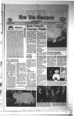 Primary view of New Ulm Enterprise (New Ulm, Tex.), Vol. 83, No. 24, Ed. 1 Thursday, April 8, 1993