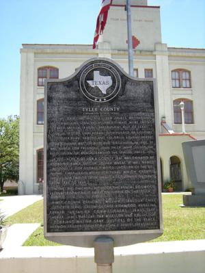 Primary view of object titled '[Tyler County Plaque]'.